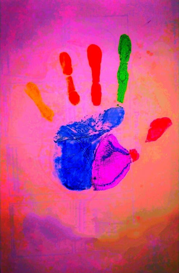 Уникально отпечаток руки бесплатная иллюстрация