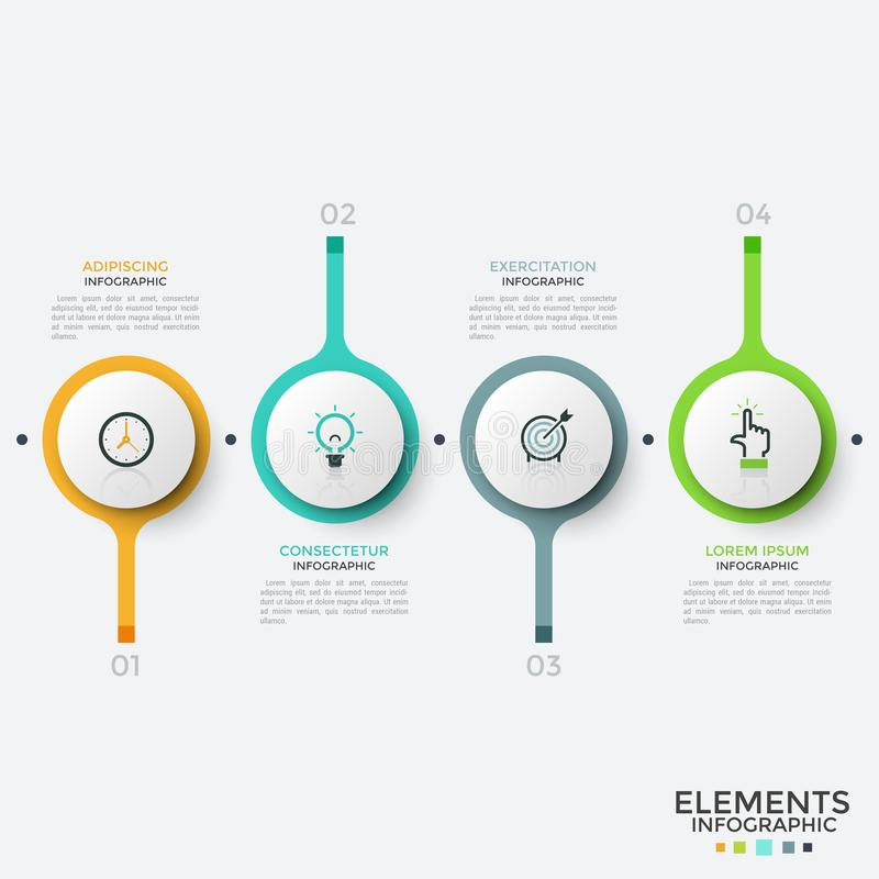 Уникально infographic шаблон дизайна иллюстрация вектора