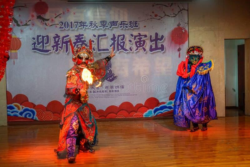 Уникальный навык оперы Сычуань стоковое изображение rf