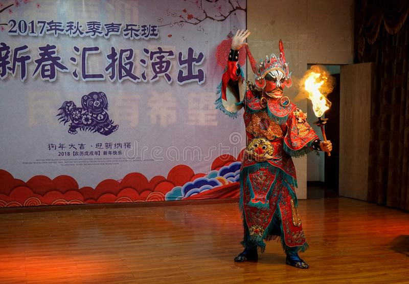 Уникальный навык оперы Сычуань стоковое фото rf