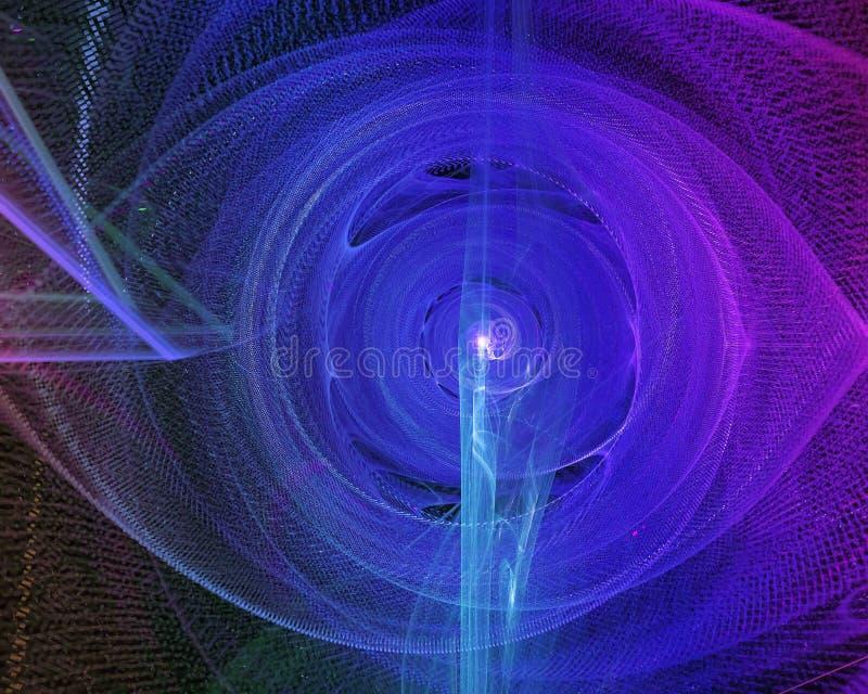 Уникальный, обоев текстуры стиля влияния фракталь формы воображения концепции цифровых футуристическая яркая, красивая фантазия д иллюстрация вектора