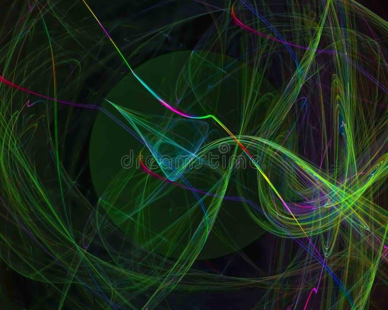 Уникальный, фракталь формы воображения концепции цифрового стиля влияния творческая, красивая фантазия дизайна иллюстрация штока
