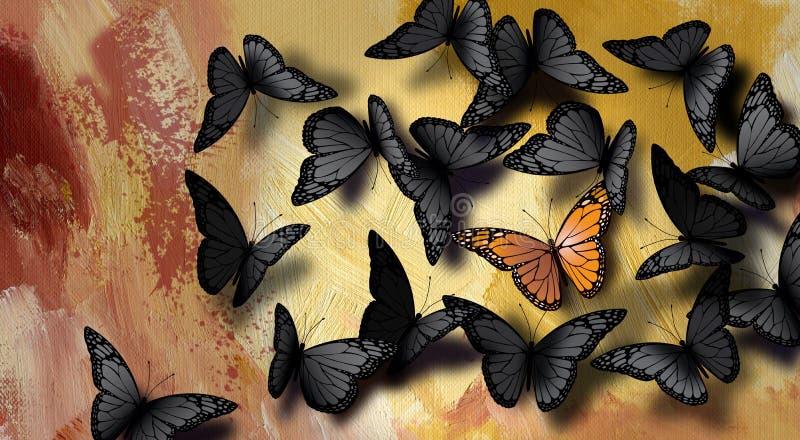Уникально бабочка иллюстрация вектора