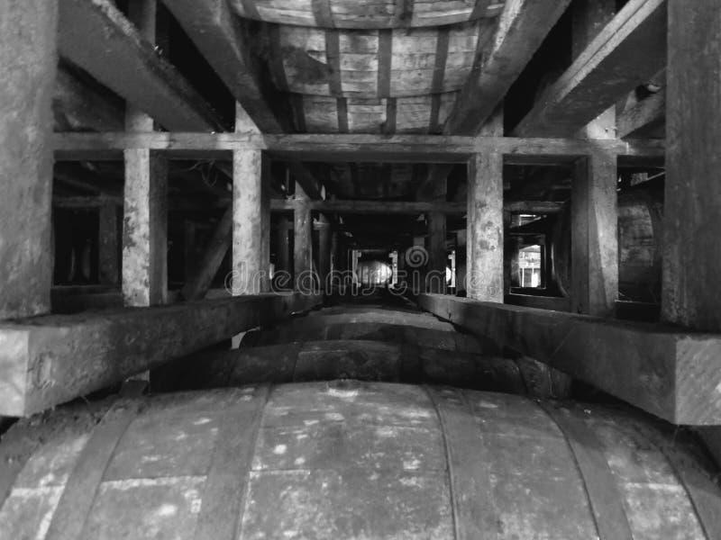 Уникально бочонок Кентукки Бурбона угла стоковое изображение