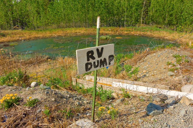 Уникально станция сброса rv в северной Канаде стоковое изображение rf