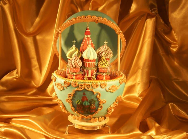 Уникально торт яичка Faberge стоковое изображение rf