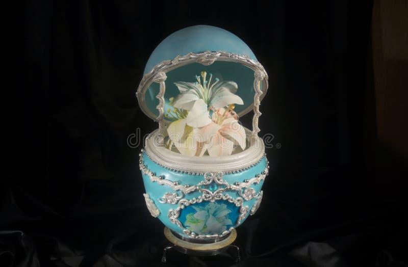 Уникально торт яичка Faberge стоковая фотография rf