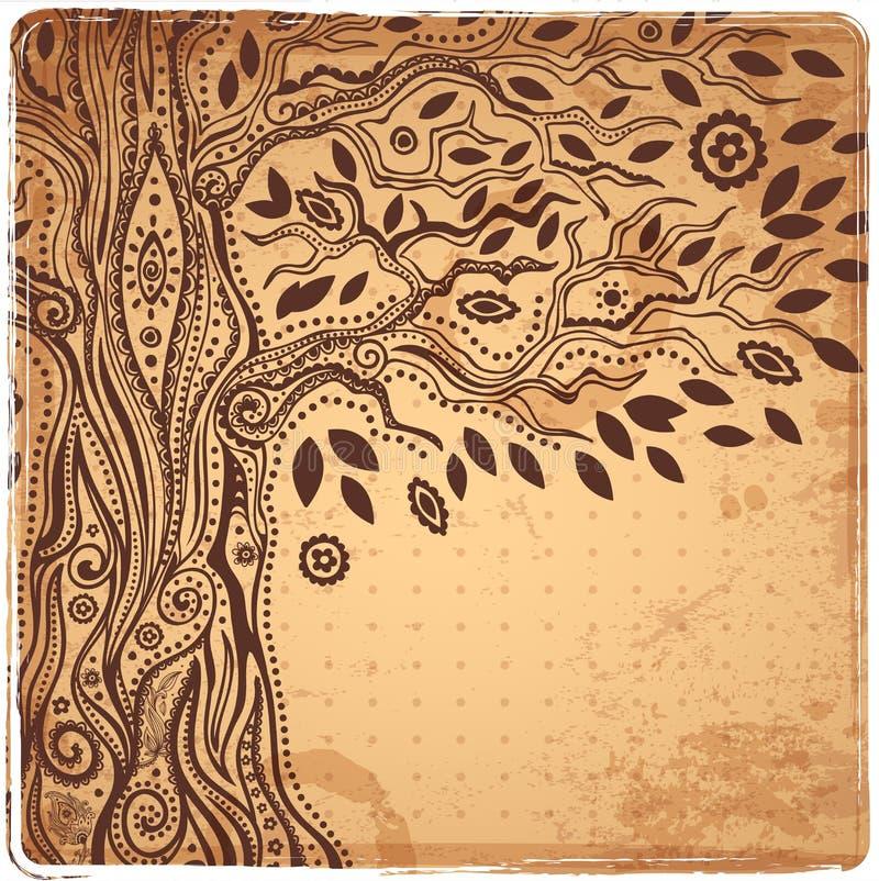 Уникально этническое дерево жизни бесплатная иллюстрация