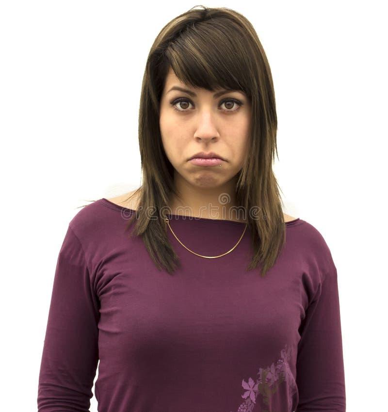 Унылая девушка стоковое изображение rf