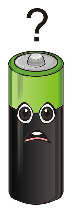 Унылая сторона батареи иллюстрация штока