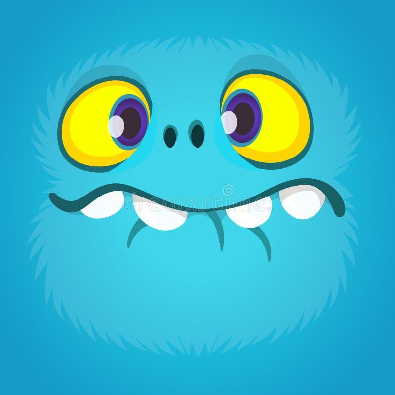 Унылая сторона изверга шаржа Иллюстрация изверга хеллоуина вектора голубая бесплатная иллюстрация