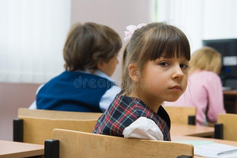 унылая школьница стоковая фотография rf