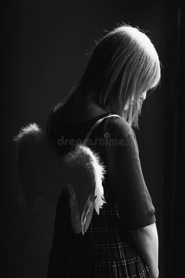 Унылый ангел стоковые изображения rf