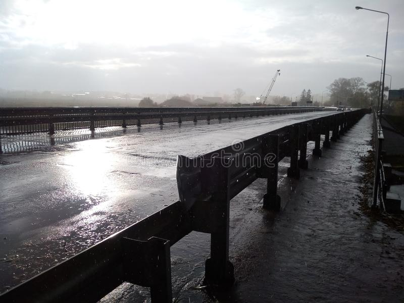 Унылый мост стоковое фото rf