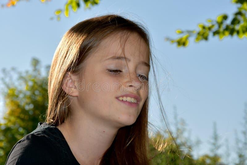 Унылый смотря девочка-подросток стоковая фотография rf