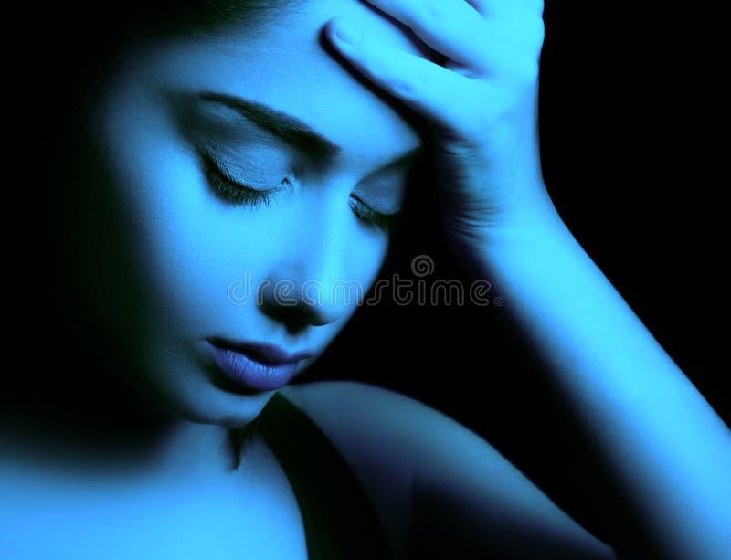 Унылая депрессия чувства женщины стоковое изображение rf