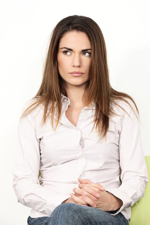 Унылая молодая женщина стоковые изображения rf