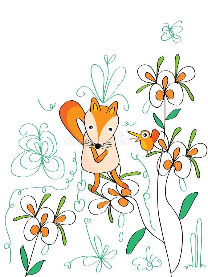 Унылая птица Fox иллюстрация штока