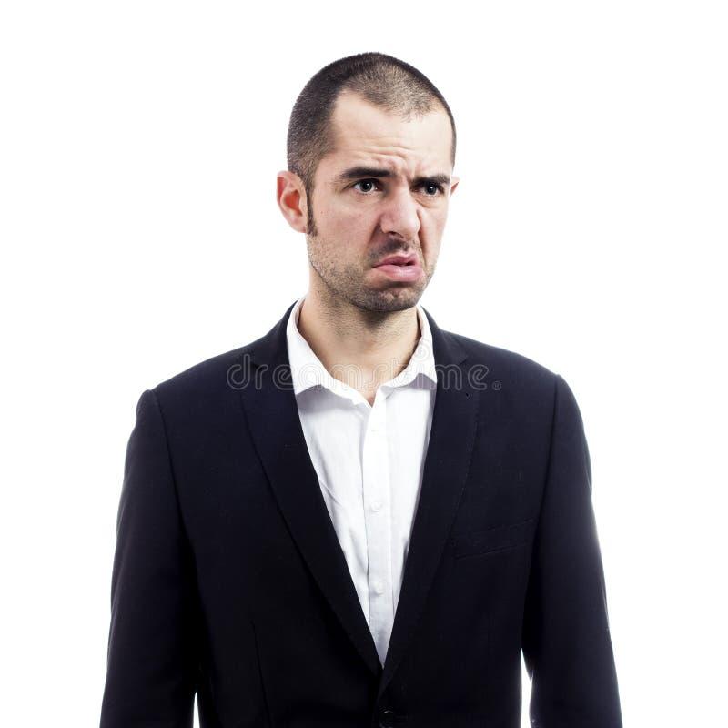 Унылый бизнесмен стоковое изображение rf