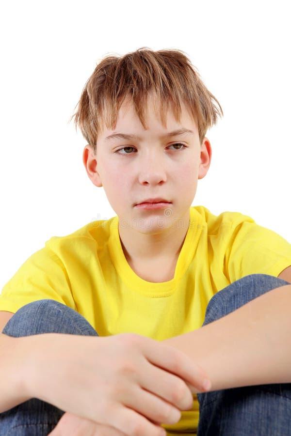 Унылый и утомленный подросток стоковые изображения rf