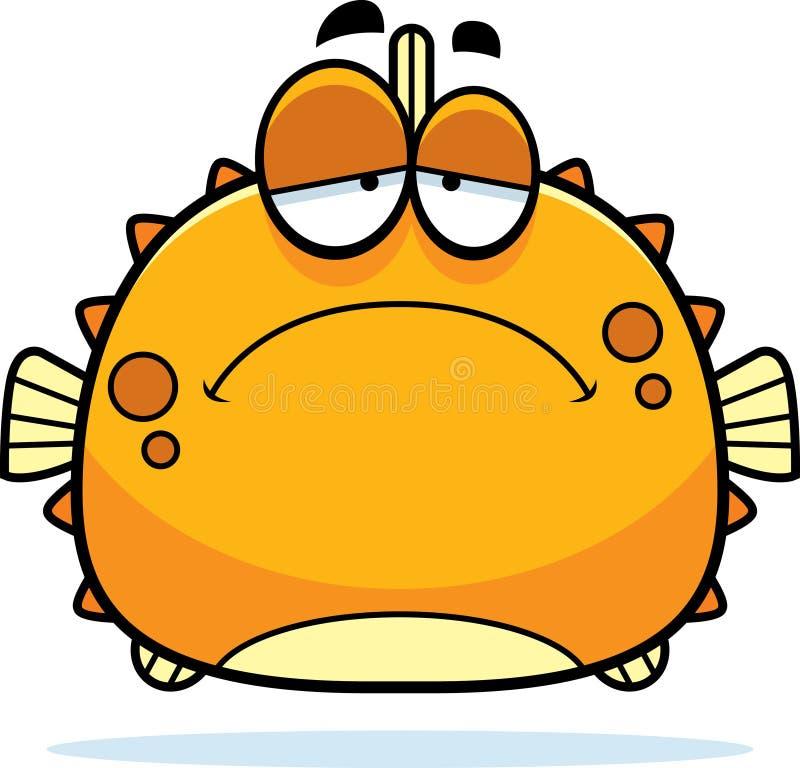 Унылый маленький Blowfish иллюстрация штока