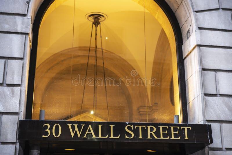 30 Уолл-Стрит в Нью-Йорке, США стоковая фотография
