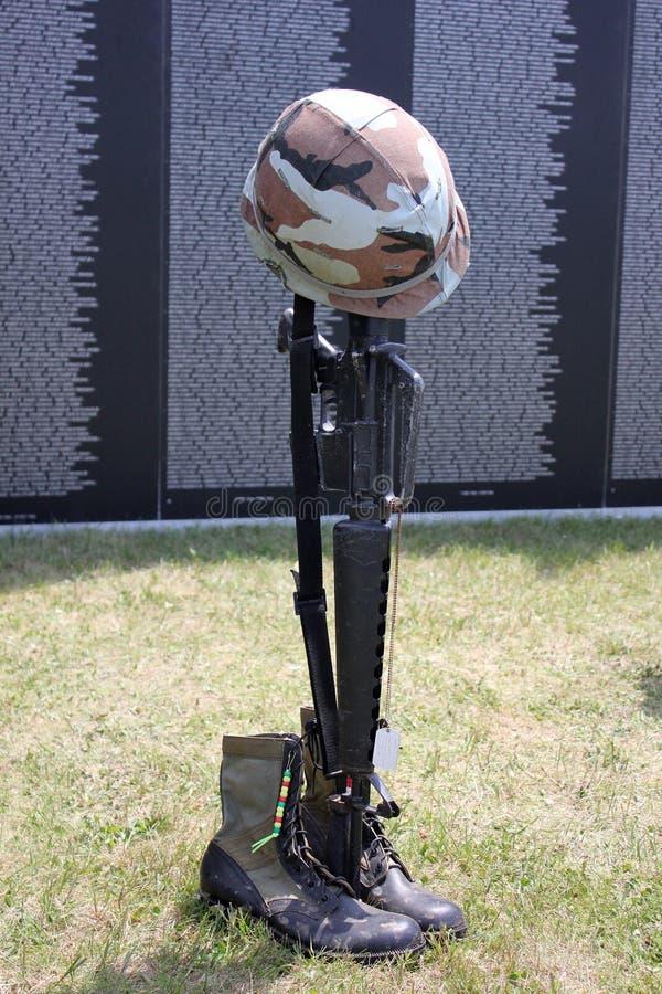 упаденный воин стоковая фотография rf