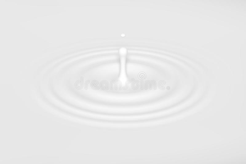 Упадите падать в молоко, лосьон или краску иллюстрация вектора