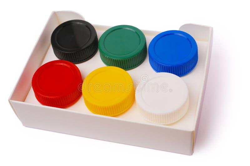 упакованные краски стоковое изображение