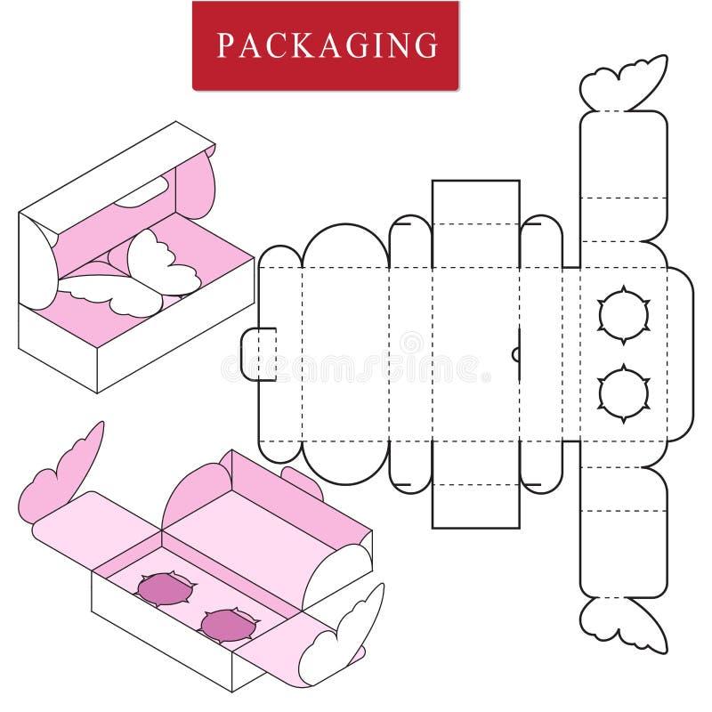 Упаковка для продукта косметики или skincare Пакет для объекта иллюстрация штока