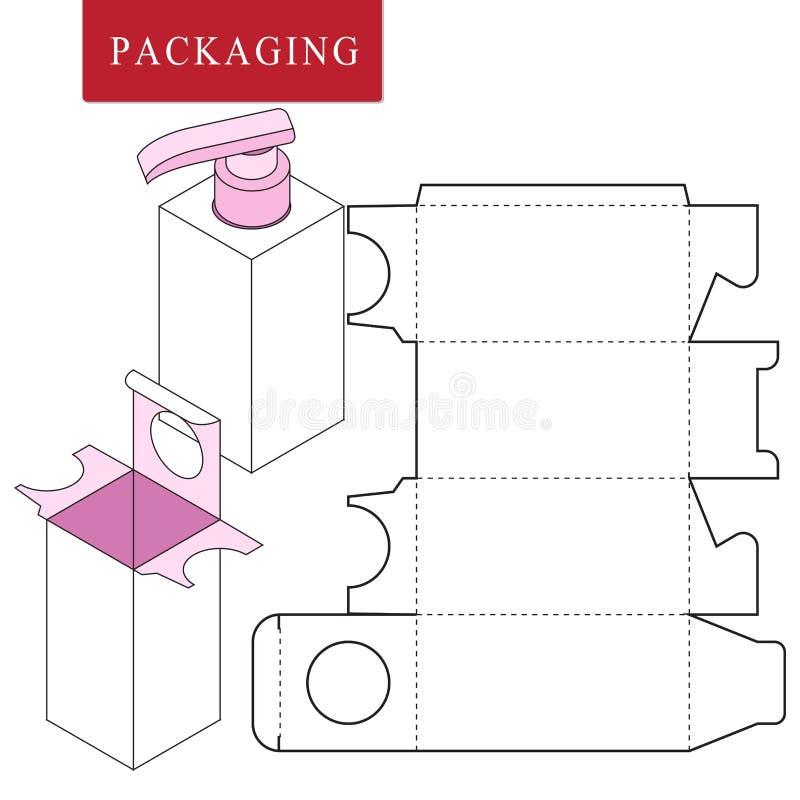 Упаковка для продукта косметики или skincare иллюстрация штока