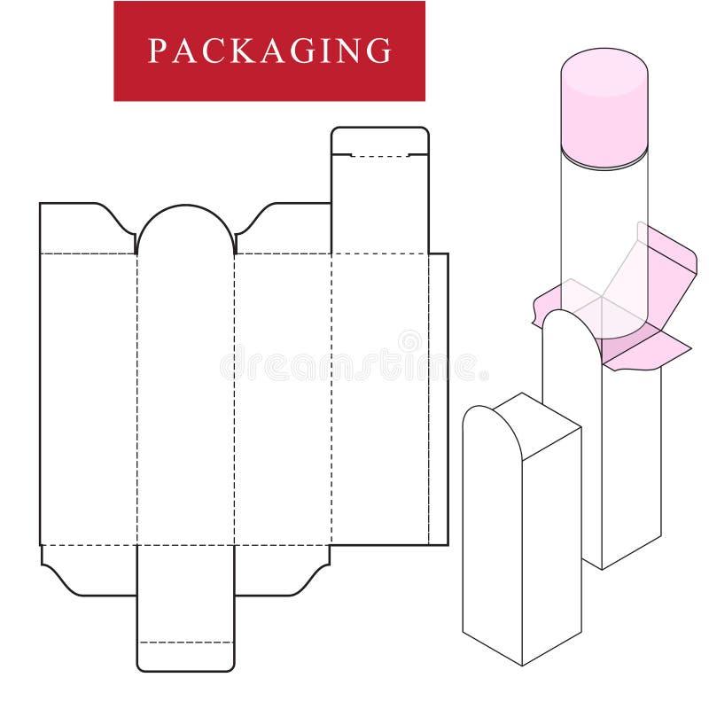 Упаковка для продукта косметики или skincare иллюстрация вектора