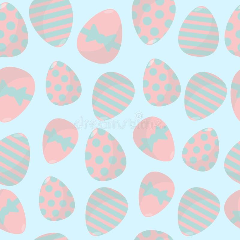 Картина вектора пасхальных яя безшовная Упаковка, создавая программу-оболочку, дизайн предпосылки бесплатная иллюстрация