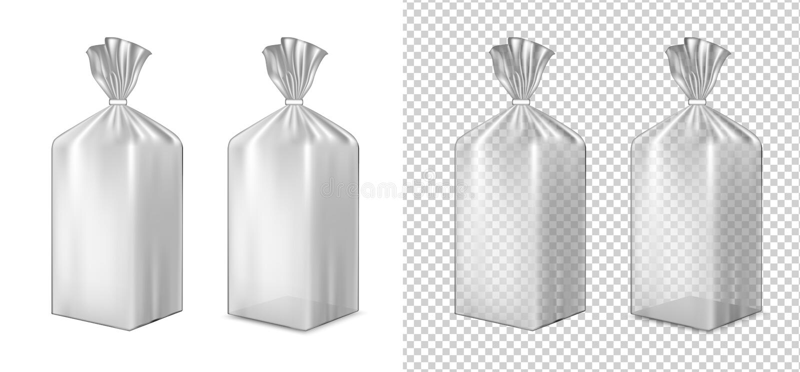 Упаковка фольги или бумаги Саше для хлеба, кофе, помадок, cooki иллюстрация штока