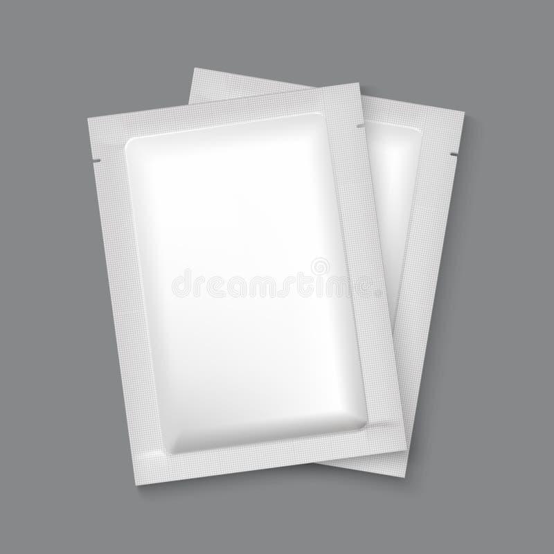 Упаковка фольги модель-макета пустая иллюстрация штока