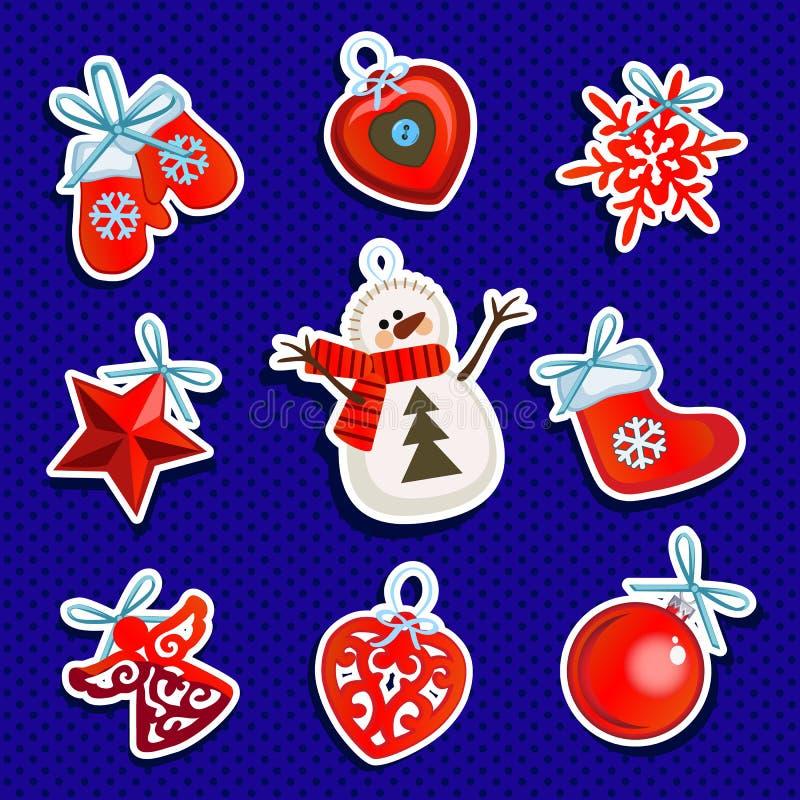 Упаковочная бумага образца дизайна с атрибутами Нового Года и рождества Эскиз плаката, приглашение партии и иллюстрация вектора