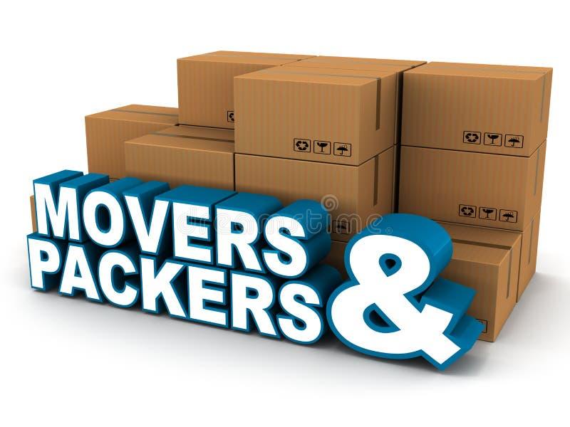 Упаковщики движенцов бесплатная иллюстрация