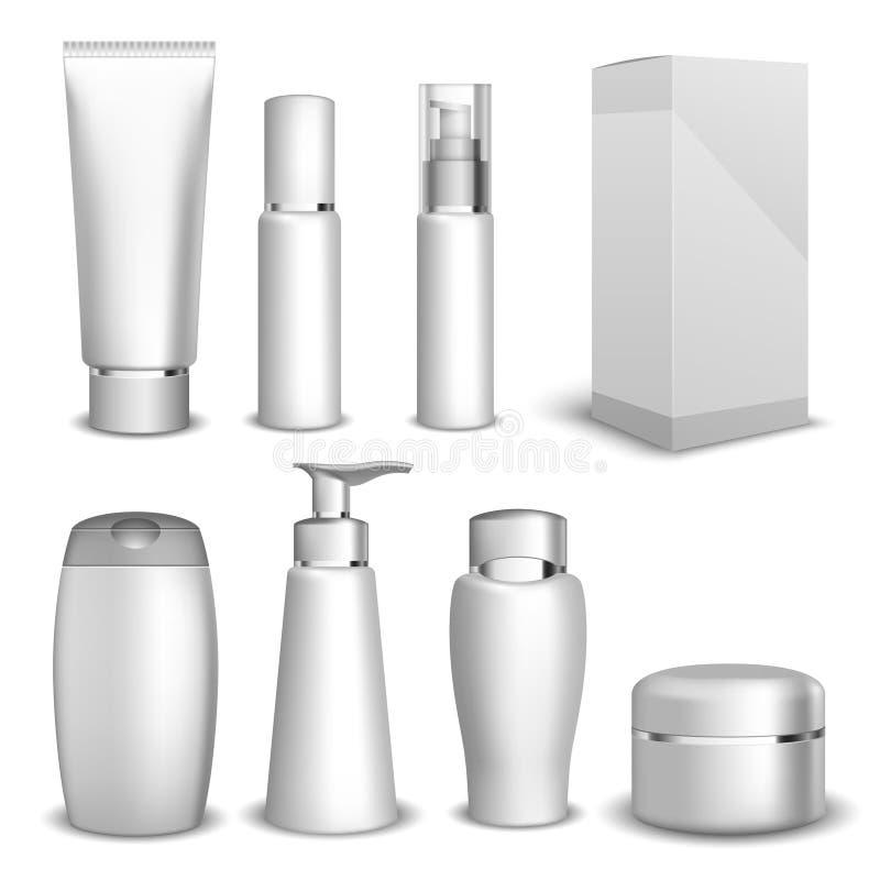 Упаковывая продукты красоты контейнеров бесплатная иллюстрация