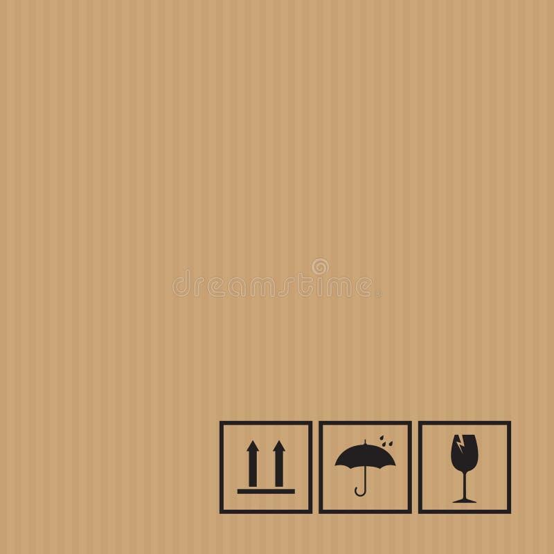 Упаковывая символы на предпосылке картона бесплатная иллюстрация