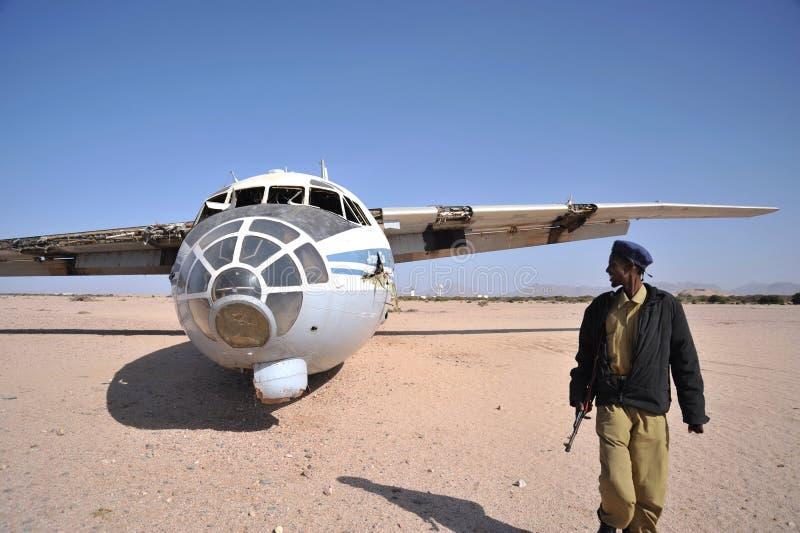 Упаденный самолет стоковое фото