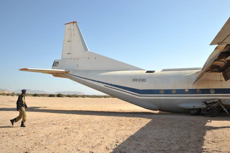 Упаденный самолет стоковые изображения rf