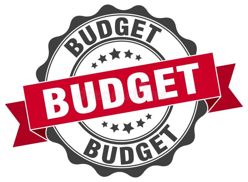 уплотнение бюджета штемпель иллюстрация вектора