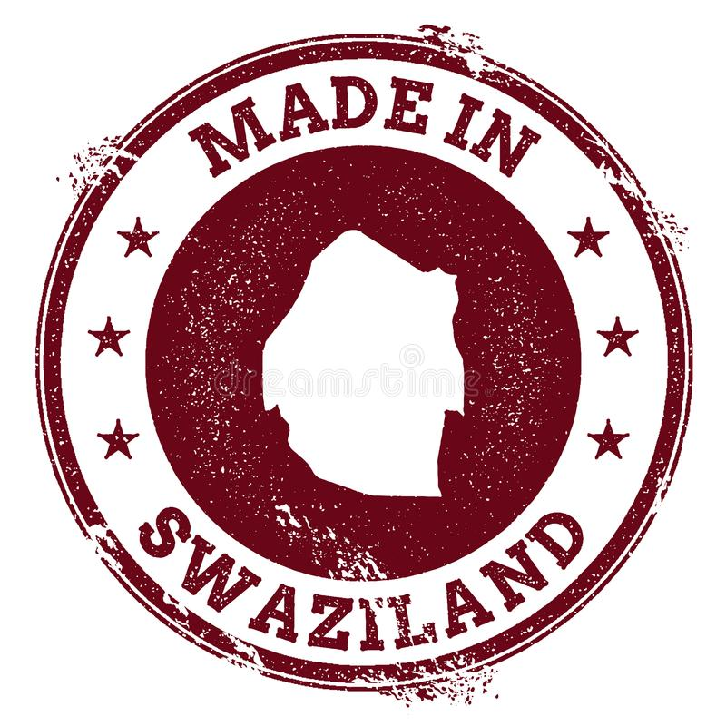 Уплотнение вектора Свазиленда бесплатная иллюстрация