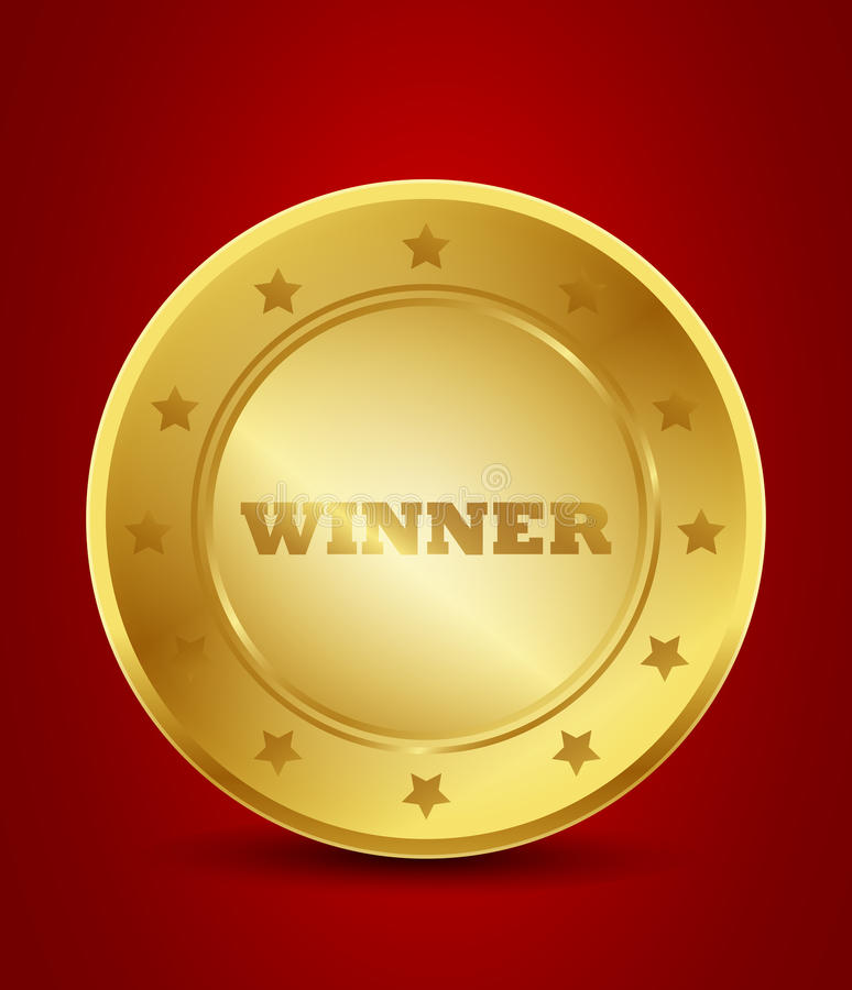Уплотнение золота победителя Иллюстрация вектора иллюстрации   Уплотнение золота победителя Иллюстрация вектора иллюстрации насчитывающей диплом конкуренция 28321145