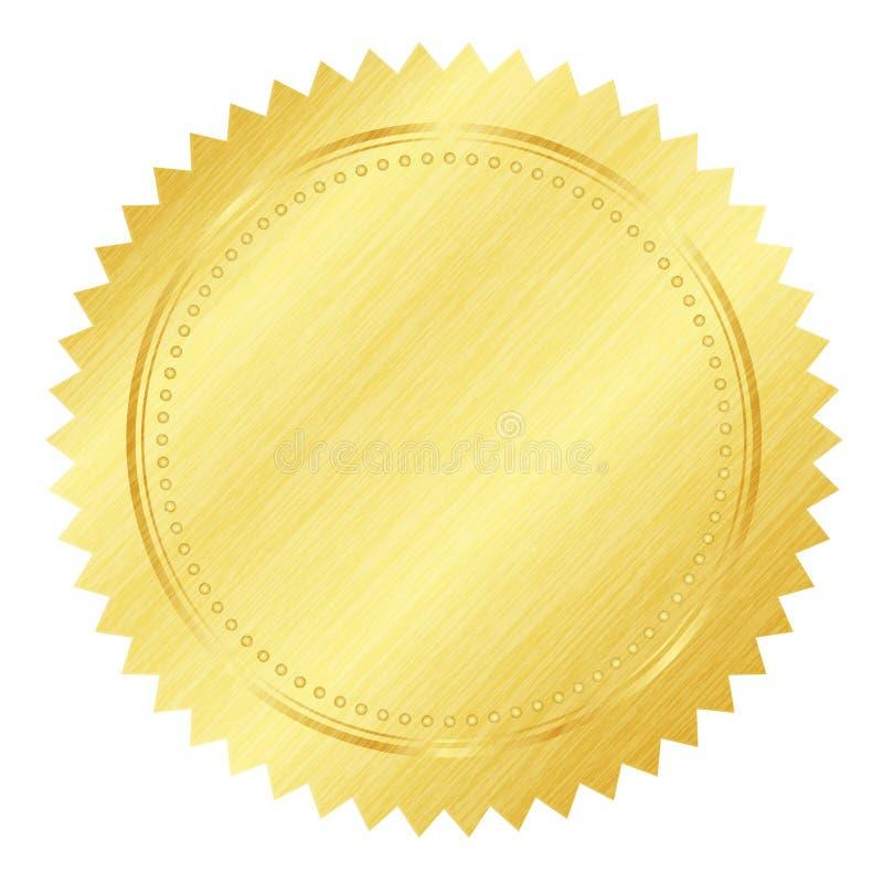 уплотнение золота иллюстрация вектора