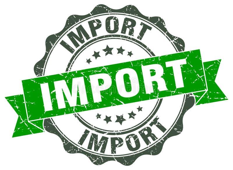 уплотнение импорта штемпель иллюстрация штока