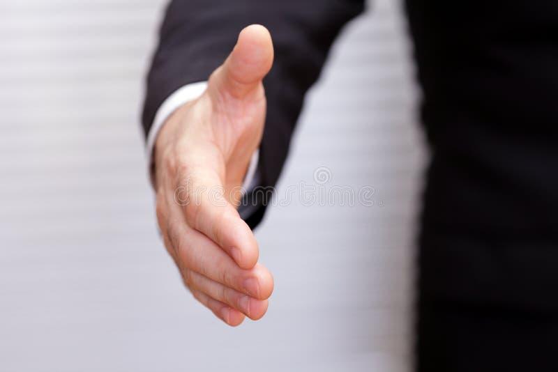 уплотнение руки дела открытое готовое к стоковая фотография rf