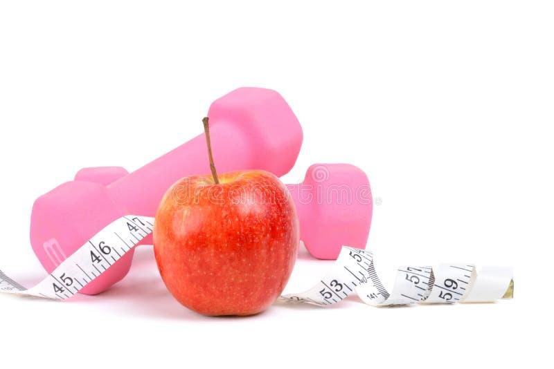 Управление весом по диете и упражнениям стоковое изображение rf