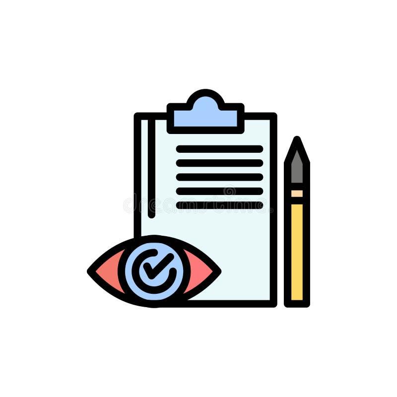 Управление качеством, Backlog, Checklist, Control, Plan Flat Color Icon Шаблон баннера значка вектора иллюстрация вектора
