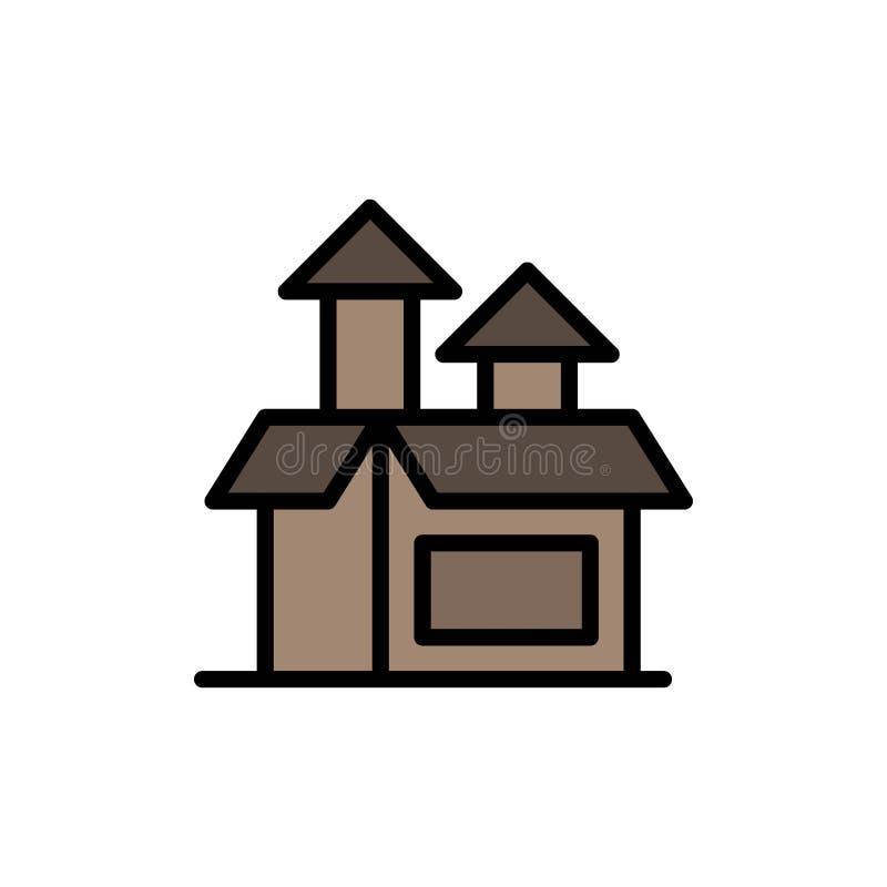 Управление, метод, представление, значок цвета продукта плоский Шаблон знамени значка вектора бесплатная иллюстрация